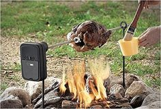 Portable Rotisserie Roaster Outdoor BBQ Motorized Ratate Camping Camp Fire