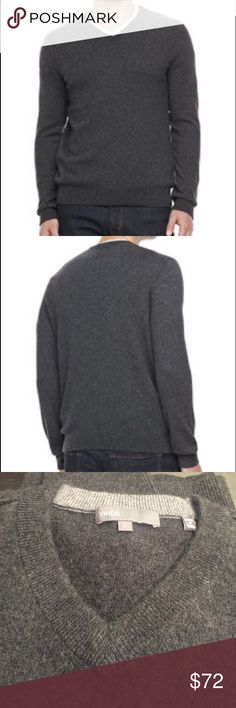 """VINCE V Neck Cashmere Sweater VINCE V Neck Cashmere Sweater. Charcoal Grey. Men's. Worn twice. Length 25.5"""" from shoulder. 21"""" width from pit to pit laid flat Vince Sweaters V-Necks"""