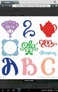 Ashlyn's alphabet