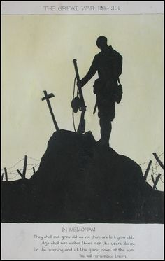Misty Blue World War One, First World, Remembrance Day Art, Soldier Silhouette, Ww1 Art, Military Tattoos, Anzac Day, Gcse Art, Military Art