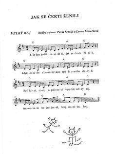 Jak se čerti ženili Sheet Music, Math Equations, Music Score, Music Sheets