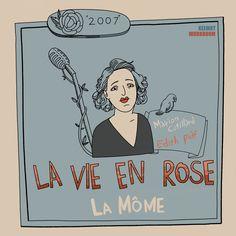 """[영화] 라비 앙 로즈(La Mome, The Passionate Life Of Edith Piaf, 2007) Movie Poster_la vie en rose """"노래를 부를 수 없다면? 그건 제가 죽었다는 뜻이에요."""" """"빠담빠담빠담"""""""