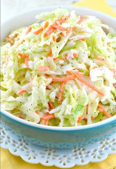 Quick And Easy Kfc Coleslaw Recipe (With Video!) - Gonna Want Seconds Quick and Easy KFC Coleslaw Recipe (With Video!) - Gonna Want Seconds keto coleslaw mix - Keto Coleslaw Coleslaw Mix, Sweet Coleslaw Recipe, Vegan Coleslaw, Kfc Coleslaw Recipe Without Buttermilk, Copycat Kfc Coleslaw, Recipe For Kfc Slaw, Low Sodium Coleslaw Recipe, Mayonnaise, Healthy Eating Recipes