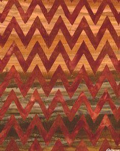 Elementals - Chevron Stripe Batik - Maple Brown - Elementals collection by Lunn Studios for Robert K - amber, brown sugar, nutmeg, brick, terracotta, coffee brown, maple brown
