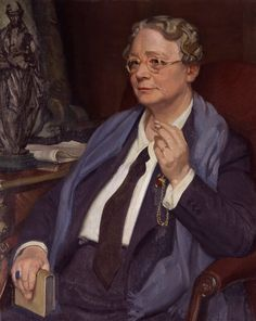 Portrait of the writer Dorothy Leigh Sayers c. by Sir William Oliphant Hutchison (Scottish 1889 - Hermann Hesse, Tolkien, Dorothy L Sayers, I Look To You, Writers And Poets, National Portrait Gallery, Art Uk, Agatha Christie, Your Paintings