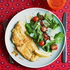 Lemon Parm Sole with Arugula Salad #30MinuteMeals #Fish