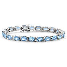 Jewelersclub Sterling Silver Topaz and Diamond Accent Bracelet