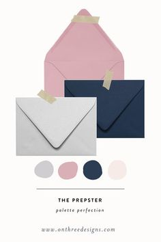 Palette Perfection: Navy Pink and Grey palette for wedding invitations. Palette Perfection: Navy Pink and Grey palette for wedding invitations. Gray And Navy Blue Wedding, Navy Wedding Colors, Unique Wedding Colors, Wedding Color Pallet, Popular Wedding Colors, Blush And Grey, Navy Pink, Blue Colour Palette, Grey Palette