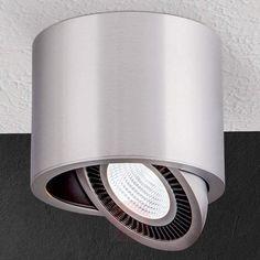 Sølvfarvet LED-påbygningsspot Sofya til loftet-7255147-30
