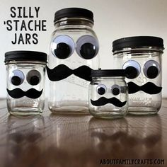 give money in a stache jar