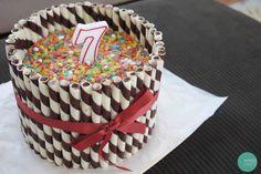 Chocolate Wafer Stick + Fruity Pebble Rainbow Cake @ mintedstrawberry.blogspot.com
