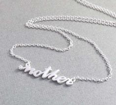 Mother's day Gift  Sterling Silver MOTHER by jewelrycraftstudio, $38.90