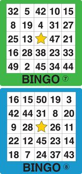 ESL GAMES-EASY NUMBER BINGO 2 - Play Bingo with your youngest kids!  This pdf file includes 12 Easy Number Bingo game boards 1-50 in two sizes. Also included are 50 number images for use as draw cards. TeachersPayTeachers.com