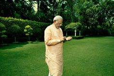 """Indian Prime Minister Narendra Modi photographed at his residence in New Delhi, India, May """"The Next Global Player."""" May 2015 issue."""