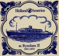 Trasatlántico Ryndam II 1951-1972, Holanda