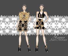 Auriele (desenhos de Moda): MODA BARROCA