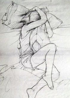 Pencil life drawing by Stasiab        lack of shadow, personality of pose