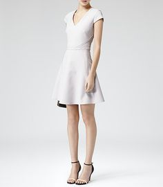 Womens Lilac Wash Raw Edge Embellished Dress - Reiss Alsace