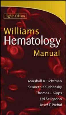 Williams manual of hematology / Marshall A. Lichtman ... [et al.]. McGraw-Hill Medical, cop. 2011. ---------------------------- Bibliografía recomendada: ONCOLOXÍA E ENFERMIDADES HEMATOPOIÉTICAS, Grao de Medicina (3º)