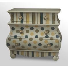 Find it at the Foundary - 42 in. Victorian Dot Chest  great idea to paint old furniture or bombay chests, etc.