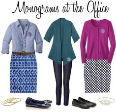 """""""Monograms at the Office"""" by marleylilly on Polyvore"""