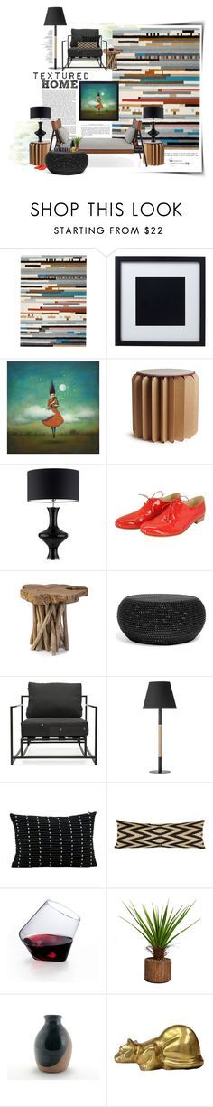 """""""The Textured Home"""" by dawn-scott ❤ liked on Polyvore featuring interior, interiors, interior design, home, home decor, interior decorating, Gandía Blasco, DUY, Bookniture and Heathfield & Co."""