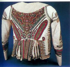 Leather embroidered jacket Hungary