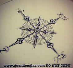 wind rose tattoo - Szukaj w Google