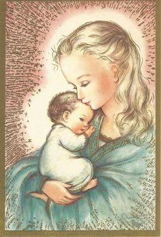 C276 Vintage Christmas Greeting Card by artist by jarysstuff, $5.00