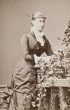 Pss Elizabeth of Hesse and By Rhine, later Gdss Elizabeta Fyodorovna of Russia. Late 1870s.