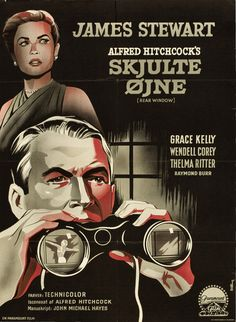 """poster for """"rear window"""" (1954, dir. alfred hitchcock)"""