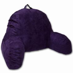 Purple Microsuede Bed Rest Reading Pillow & Support Bed Backrest Pillow With Arms - Bedrest Pillow, Bed Rest Lounger Makes A Comfy And Therapeutic Cuddle Buddy, Bed Pillow For Sitting Up Bed Pillow With Arms, Bed Rest Pillow, Back Pillow, Purple Pillows, Purple Bedding, Diy Pillows, Throw Pillows, Reading Pillow, Reading In Bed