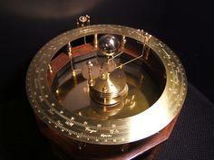 Handcrafted Grand Orrery, Clockwork Solar System Model