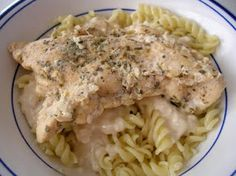 Slow Cooker Lemon Garlic Chicken . . . makes the best sauce to serve over pasta!