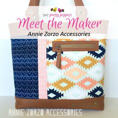 Meet the Maker - Annie Zorzo Accessories - Andrie Designs Paper and PDF bag patterns Handmade bags Vibrant Colors, Colours, Handmade Bags, Annie, Things To Come, Meet, Bag Patterns, Paper, Pretty