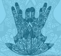 Lotus Mudra Mehndi