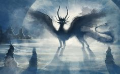 Shadowbeast of  the Frozen wastes by hibbary.deviantart.com on @DeviantArt