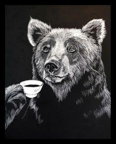 Mr Bear Print | Jimbob Art | Wolf & Badger