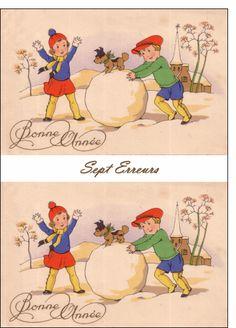 Carte Carte de voeux ancienne pour envoyer par La Poste, sur Merci-Facteur !