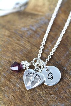 New Mom Necklace Push Gift, Baby Shower Gift, Expecting Jewelry, Mommy Gift, 925 Sterling Silver
