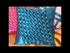 How to make puffs on a pillow.Как сделать буфы на подушке. - YouTube