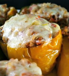 These Slow Cooker Stuffed Peppers are super easy to put together, and make for an easy & delicious weeknight meal!