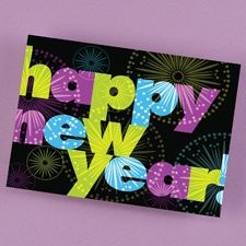 New Year Colors Holiday Card