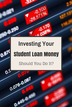 Investing student loans can be done, but should it be done? Here is a step by step guide on how to invest your student loans while being safe with the debt. Student loan forgiveness #debt #college #studentloan
