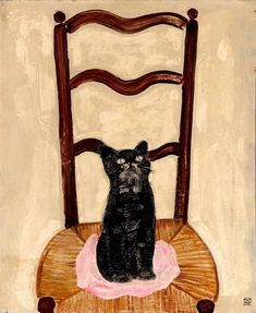 huariqueje: Cat on a Chair - Sanyu