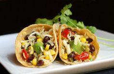 Black Bean, Corn and Avocado Tacos
