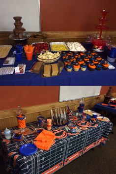 Jaden 11th Bday Chicago Bears Candy Tables