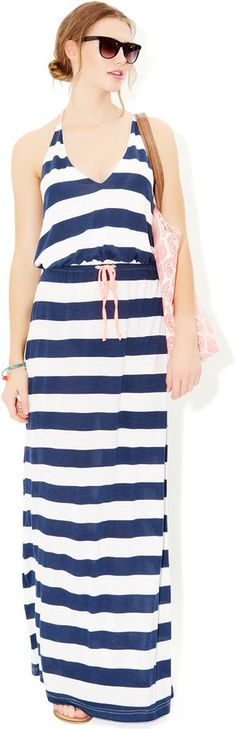Pin for Later: Is Riviera Chic the Most Stylish Summer Look? Mais Oui Monsoon Nautical Stripe Jersey Maxi Dress Monsoon Nautical Stripe Jersey Maxi Dress (£22, originally £32)