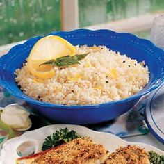 Lemon Rice Recipe -This easy recipe pleasantly proves you can dress up regular rice with a few simple additions. Best of all, it can simmer while you're preparing the rest of the meal. These delicately lemon-flavored grains go nicely with fish.