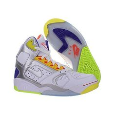 f01766bfe3 New Men s Nike Air Flight Lite High White Silver Grape Size 10 Basketball  Shoes